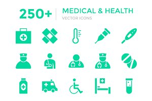 250+ Medical and Health Vector Icons