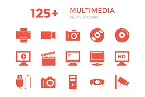 125+ Multimedia Vector Icons