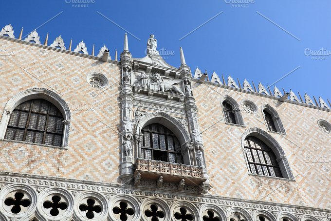 The Doge's Palace (Palazzo Ducale). Venice, Italy. - Architecture