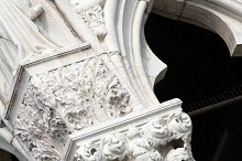 Column of the Doge's Palace. Venice, Italia.