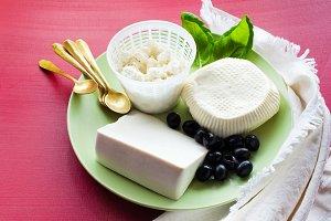 Ricotta, Feta and sheep Cheese