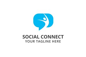 Social Connect Logo Template