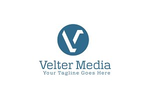 Velter Media Logo Template