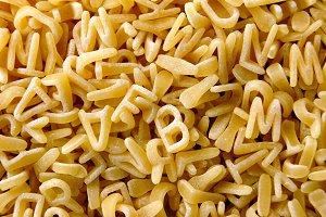 Abc Pasta Background