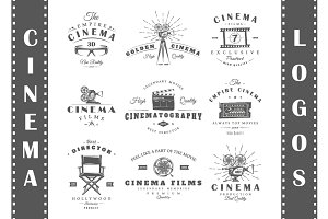 9 Cinema Logos Templates Vol.1