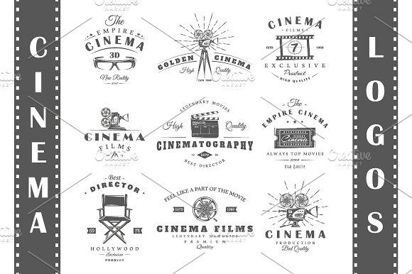 9 Cinema logos templates Vol.1 - Logos