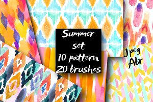 10 pattern and 20 Brushes for PSD