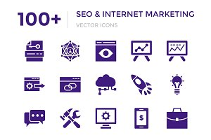 100+ SEO and Internet Marketing Icon