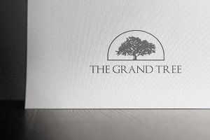 Logo Mock-up Luxury Letterpress