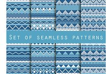 Set of seamless ethnic patterns