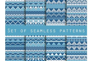 Set of seamless ethnic patterns