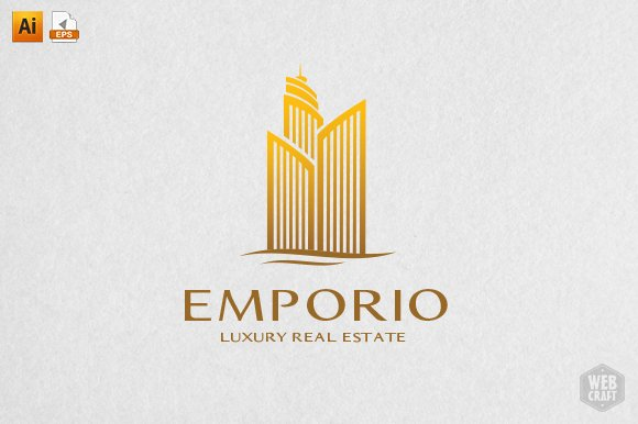 luxury real estate logo template logo templates creative market