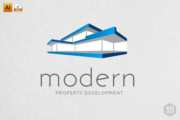 modern real estate logo template logo templates creative market