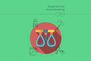 Alpinism equipment. Climbing harness