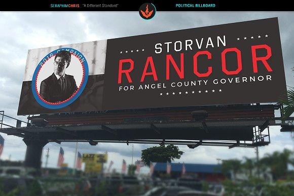 Political Billboard Template ~ Templates ~ Creative Market