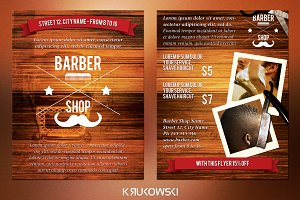Barber Shop 2 Sided Flyer