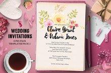 8 Wedding Invitations Pack 2