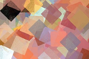 Colorful Squares Abstract