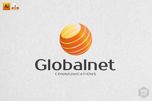 Global Net Software Logo Template
