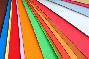 Colorful Paper Chart Abstract