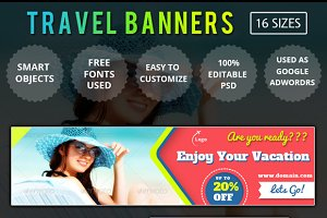 Web Banners and Ads (Travel)