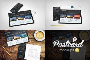 Postcard Mockups Pack #2