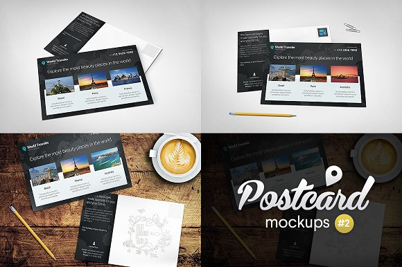 Download Postcard Mockups Pack #2
