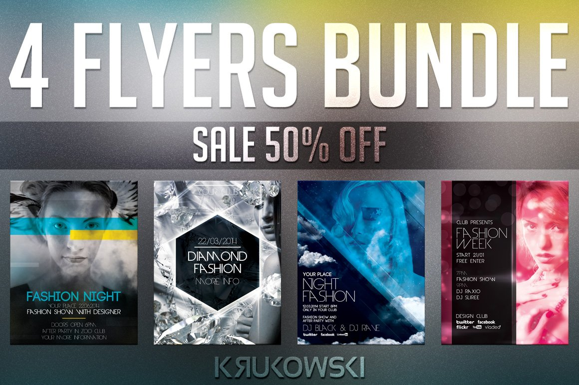 fashion flyer templates bundle flyer templates creative market