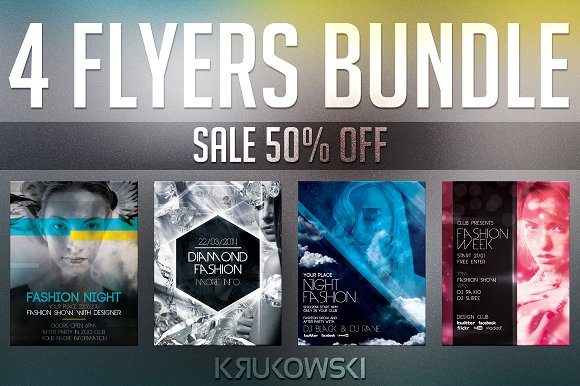 fashion flyers templates for free - fashion flyer templates bundle flyer templates