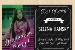 Graduation invitation card 4
