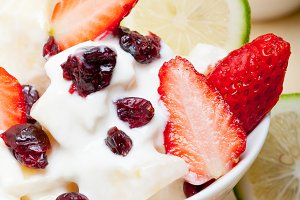 fruits and yogurt salad