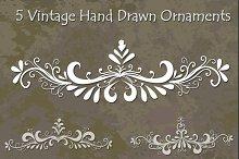 Vintage Hand Drawn Ornaments Set 1