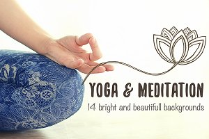 Yoga and meditation photo background