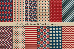 Vintage Patriotic Digital Paper