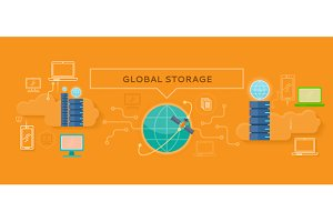 Global Storage Design Flat Concept