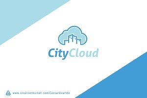 City Cloud Logo Template