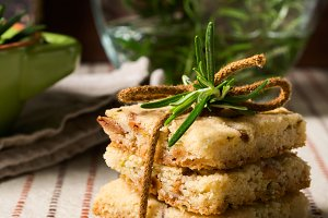 Cookies with rosemary herb