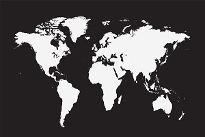Flat world map vector