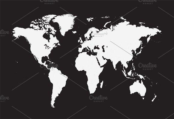Flat world map vector web elements creative market flat world map vector web elements gumiabroncs Choice Image