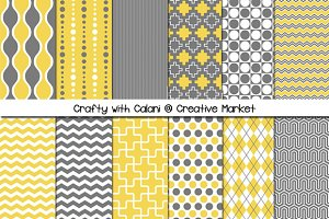 Mustard & Gray Digital Paper