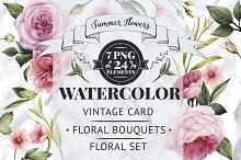 Floral set, Bouquets & Card