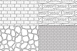 Brick and stone seamless set
