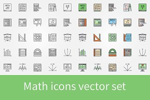 Math icons set