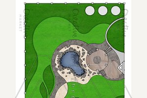 Landscaping master plan, 2d sketch