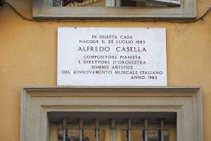 Alfredo Casella house in Turin, Italy