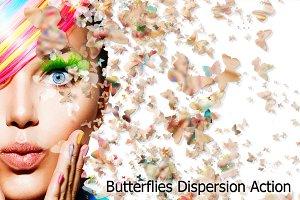 Butterflies Dispersion Action