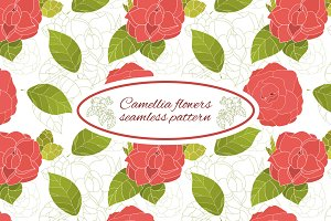Camellia pattern vector