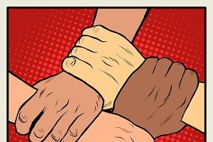 Handshake different nationalities