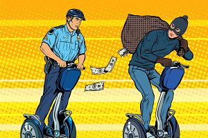 Thief money police