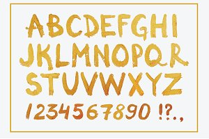 Golden Hand Drawn Font
